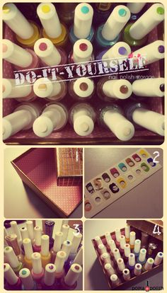 Paint onto lid - DIY Nail Polish $1 Stickers!!! Storage/Swatches #nailart