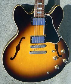 1966 Gibson ES-335TD: 12 String Conversion, Pat. Sticker Pickups, Stop Tail, Best Buy! | archtop.com | Reverb Gibson Electric Guitar, Factory Work, Small Wonder, Union Made, Body Size, Traditional Design, Guitars, Musicians, Cool Things To Buy