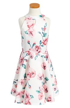 Free shipping and returns on Elisa B Floral Fit & Flare Dress (Big Girls) at Nordstrom.com. Beautiful flowers dance across a party-ready halter dress in a swingy fit-and-flare silhouette.