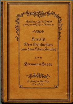 Knulp, probably first edition