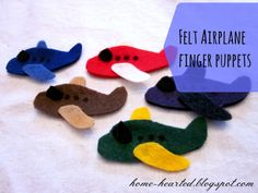 Felt Airplane Finger Puppets
