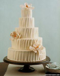 Buttercream cake...love the simple look!
