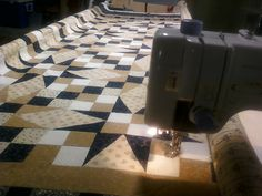 This listing is for batting, thread and an edge-to-edge machine quilt pattern that could be done on your quilt top. Typical queen bed size