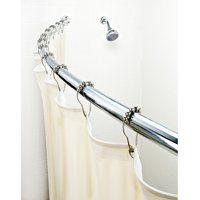 Curved Shower Rods Walmart Com Shower Rod Shower Curtain Rods