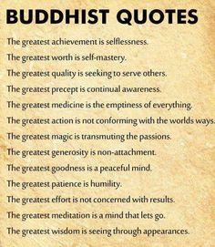 The greatest generosity is non-attachment.