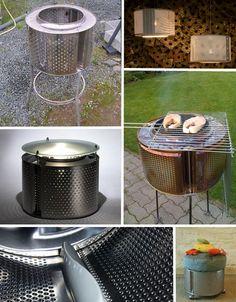 Washing machine drum recycle ideas.