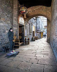Musician Under Merchant's Arch - Dublin Print by Barry O Carroll Grafton Street, Temple Bar, Dublin City, Saxophone, Beverly Hills, Fine Art America, Arch, Instagram Images, Photography