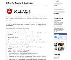 8 Tips for Angular.js Beginners