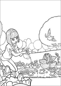 Free Coloring Sheets Of Barbie Thumbelina Printable Picture 11