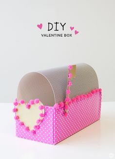 Here is a sweet Valentine's Day idea from Hallmark designer Allie S. DIY Valentine Box to store all of your yummy treats.