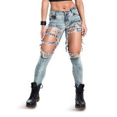 Calça Jeans Absolutely Destroyed @ Labellamafia - Labellamafia