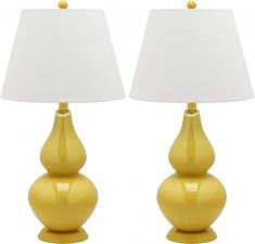 Safavieh Lighting Collection Cybil Double Gourd Table Lamp, Yellow, Set of 2 Safavieh http://www.amazon.com/dp/B00BJ7DCVW/ref=cm_sw_r_pi_dp_Rt2uwb1CTNDHZ