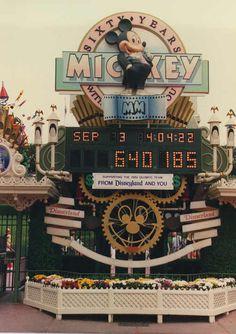 Mickey's 60th - Disneyland countdown clock