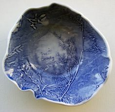 Blue - bowl - ceramic - John Bauer Bauer, Ceramic Sculpture, Sculptures, Ceramics, Clay, John Bauer, Art Nouveau, Bauer Pottery, John