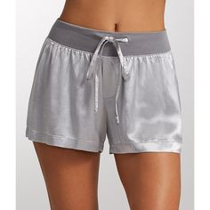 PJ Harlow Mikel Satin Sleep Boxer Shorts ($46) ❤ liked on Polyvore featuring intimates, sleepwear, pajamas, short, women, satin pajamas, satin boxers, short pyjamas, pj harlow pajamas and short pajamas