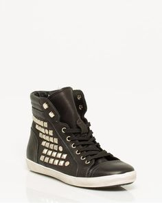Le Château: Studded Leather High Top Sneaker