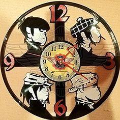 VINYL WALL CLOCK GORILLAZ