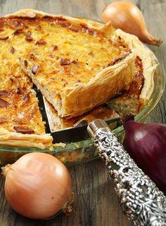 Recette Tarte aux oignons et pignons de pin / Recipe onion and pine nut pie