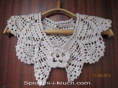 воротничок, связанный крючком/ crocheted collar very nice