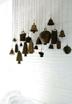 chimes made from vintage bells