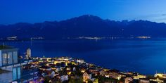 Beautiful night view of Montreux :- Montreux is located on Lake Geneva.Places to visit are Chatelard Castle, Hotel Montreux-Palace and Marché couvert. Europe Centrale, Canada, My World, Switzerland, Places Ive Been, Attraction, Palace, Dolores Park, Places To Visit