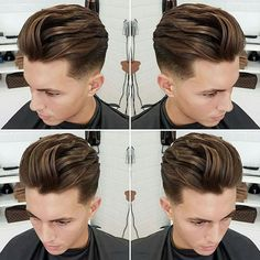 Low Fade with Long Textured Slick Back - Hot Men's Hairstyles