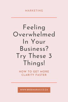 Feeling a little stressed and overwhelmed in your business at times, or maybe even right now? I get it, I know the feeling so well. And that's why I'm sharing this posts with 3 things that I do when this overwhelming and anxious feeling of trying to tackle multiples task hits. Follow the link to my blog post and see if these 3 steps will help you feel more in control of what's happening in your business. #businesstips #businessideas #selfcare #calrity #overwhelmed #business Tell Me Your Secrets, Feeling Overwhelmed, 3 Things, Anxious, I Got This, Continue Reading, Business Tips, About Me Blog, Stress