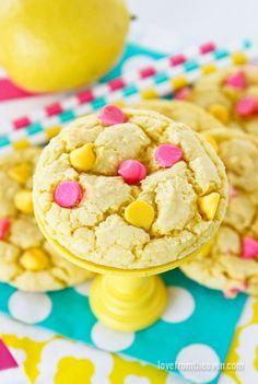 Biscuits au citron (attention de bien les séparer sur la plaque à biscuits)
