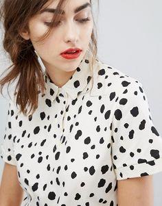 People Tree Organic Cotton Dalmatian Print