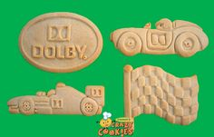 Dolby Company Initiative - Race into 2012 - #RaceCars, Logo, Flag - Edible Favors - Edible Favors