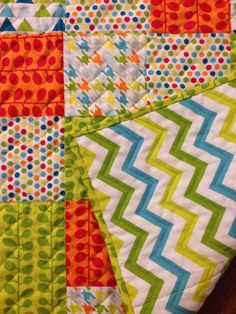 Great idea back with chevron then quilt on the chevron lines.