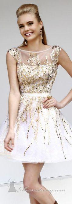 Sequined Sleeveless Dress by Sherri Hill
