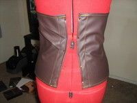 How to make a corset. Brown Corset - Step 8