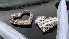Svatební dekorace, výzdoba na auto nevěsty SRDCE / Zboží prodejce MONEO73 | Fler.cz Wedding Cars, Boho, Hearts, Weddings, Bodas, Bohemian, Wedding, Mariage, Bohemia