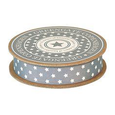 GreenGate Ribbon With Small Stars Warm Grey 16 mm x 5 m | NEW! GreenGate Autumn/Winter 2014 | Originated-Shop