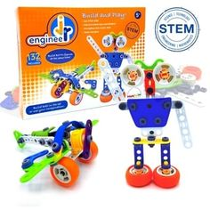 Shop Jr. Engineer - Robot & Airplane - Free Shipping On Orders Over $45 - Overstock - 28736825 Toddler Christmas, Christmas Toys, Best Gifts For Tweens, Cool Toys For Boys, Best Educational Toys, Tween Girl Gifts, Stem Learning, Stem Science, Box Branding
