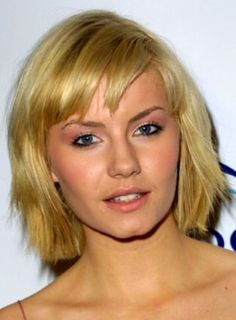 short hairstyle wispy bangs