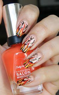 Flame Nail Art. - Vicky Loves Nails!