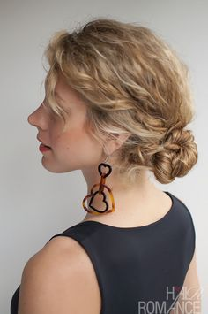 Rope Twist Bun Hairstyle Tutorial in Curly Hair