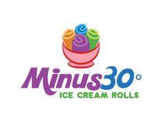 Minus 30° Ice Cream Rolls logo design concepts #32