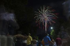 Locals watch fireworks during Fourth of July celebrations at Festival Park in Fayetteville, North Carolina on Thursday, July 4, 2013. / Credit: Jason Edward Chow