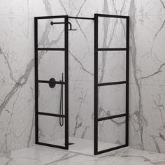 Black Taps, Matte Black Bath & Shower Taps by Lusso Stone Shower Taps, Shower Units, Shower Set, Shower Doors, Bath Shower, Shower Ideas, Shower Enclosure Kit, Walk In Shower Enclosures, Industrial Showers