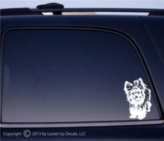 Yorkshire Terrier dog Vinyl Decal small © 2013 by Laced Up Decals SKU:Yorkshire Terrier small 33 Buy French Bulldog, Silky Terrier, Yorkshire Terrier Dog, Weimaraner, Terrier Dogs, Outdoor Life, Vinyl Decals, Car Decals, Sticker