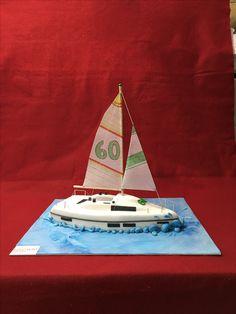 Regata boat cake by www. Boat Cake, Sugar Art, Red Carpet, Nautical, Ocean, Cakes, Design, Navy Marine, Cake Makers
