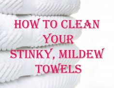 Wash your towels in hot water with a cup of vinegar, then run again in hot water with a half-cup of baking soda. That will strip your towels from all of that residue & mildew smell & will actually leave them feeling fluffy & smelling fresh. - Click image to find more Home Decor Pinterest pins