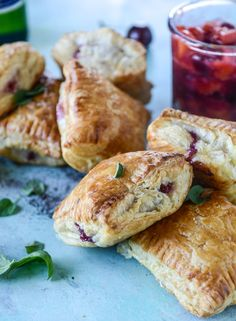 puff pastry pop tarts with goat cheese and cherry peach chutney I howsweeteats.com #pernodcooking #sponsored