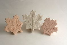 clay stamps - maple leaves