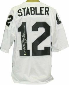 Ken Stabler signed Oakland Raiders White Russell Athletic Jersey .  226.65.  Ken Stabler was drafted 4722b06a9