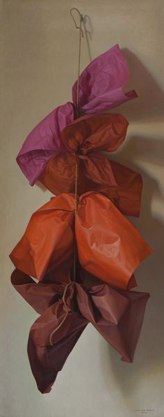 Claudio Bravo - Four Red Papers, 2011 Red Paper, Paper Art, Claudio Bravo, Hyper Realistic Paintings, Art Gallery, Still Life Art, Photorealism, Painting Inspiration, Art Boards