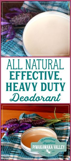 It has been a long time coming, but I finally have a recipe for an effective all natural deodorant for you that works really well. Actually, I have two! One is a simple, every day deodorant that will work well for most people, the second is a heavy duty natural deodorant that will calm even the toughest body odor. Both of these recipes contain baking soda, however, if you make it and you find the baking soda is irritating your pits, you can replace it with more tapioca starch. #diy #natural